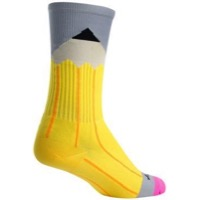 SockGuy No. 2 Crew Socks - Yellow/Gray