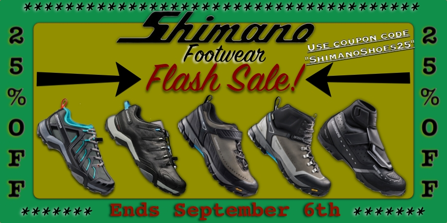 25% off all Shimano Shoes
