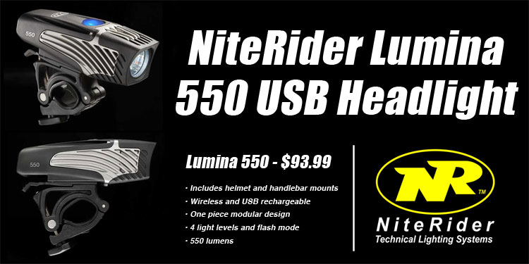 Niterider Lumia 550 USB Headlights