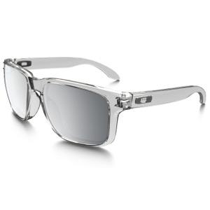 1ad48e7a230 ... inexpensive oakley holbrook sunglasses clear chrome iridium lens 53db9  e260e