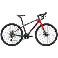 "Giant TCX Espoir Disc 26"" Complete Bike 2020 - Charocal/Pure Red"