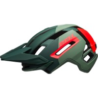 Bell Super Air MIPS Helmet 2021 - Matte/Gloss Green/Infrared