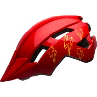 Bell Sidetrack II Youth Helmet 2020 - Bolts Gloss Red