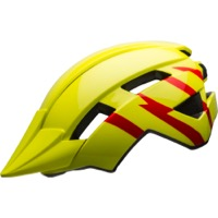 Bell Sidetrack II Youth Helmet 2020 - Strike Gloss Hi-Viz/Red
