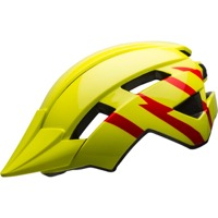 Bell Sidetrack II Child Helmet 2020 - Strike Gloss Hi-Viz/Red