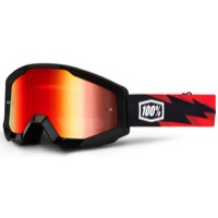 100% Strata Goggles - Slash/Mirror Red Lens
