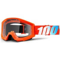 100% Strata Goggles - Orange/Clear Lens