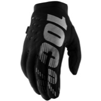 100% Brisker Gloves - Black