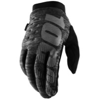 100% Brisker Gloves - Heather Grey