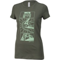 All-City Damn Fine Womens T-Shirt - Military Green