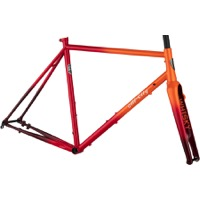 All-City Zig Zag Disc Frameset - Orange/Red Fade