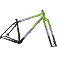 All-City Electric Queen Frameset - Blue/Lime w/Splatter