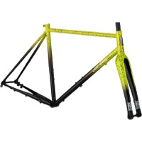 All-City Macho King A.C.E. Disc Frameset - Yellow Fade Splatter