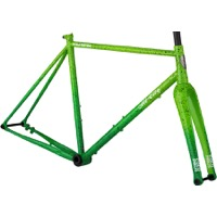 All-City Nature Boy A.C.E. Disc Frameset - Green Fade Splatter