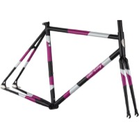 All-City Big Block Frameset - Midnight/Frost/Violet