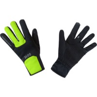 Gore M WINDSTOPPER Thermo Gloves - Black/Neon Yellow