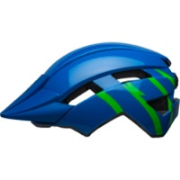 Bell Sidetrack II MIPS Child Helmet 2021 - Strike Gloss Blue/Green