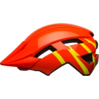 Bell Sidetrack II Youth Helmet 2021 - Strike Gloss Orange/Yellow