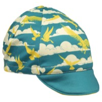 All-City Fly High Cycling Cap - Teal/Gold