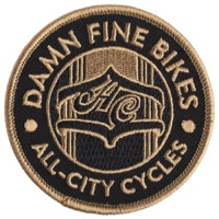 All-City Damn Fine Bikes Patch