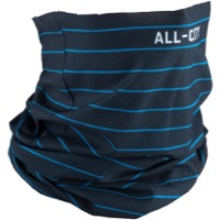All City Midnight and Cobalt Neck Gaiter - Black/Teal