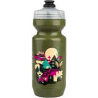 Salsa Wide Mouth Purist Water Bottle - Meander Forest Green