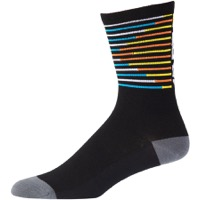 45NRTH Lightweight Wool Socks - Black/Citron Decoder
