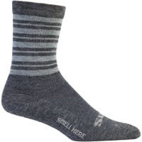 Surly Stripey Wool Socks - Gray