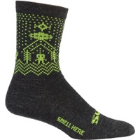 Surly Beam Me Up Wool Socks - Black/Loaden Heather