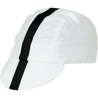 Pace Classic Cycling Cap  - White w/ Black Stripe