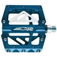 Azonic 420 platform pedals - Ano Blue
