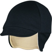 Pace Merino Wool Reversible Cycling Cap - Eggshell/Black