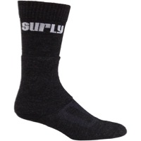 Surly Logo Tall Wool Socks - Black