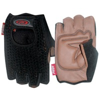 Push Crochet Gloves - Black/Tan