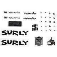 Surly Steamroller Frame Decal Set w/Headbadge