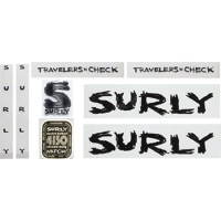 Surly Travelers Check Frame Decal Set w/Headbadge