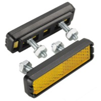 Wellgo Bolt-on Pedal Reflector Set