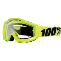100% Accuri Goggles - Yellow/Clear Lens