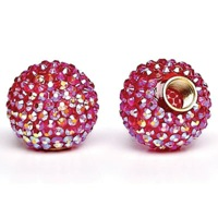 Cruiser Candy Bling Valve Caps - Fuschia