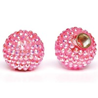 Cruiser Candy Bling Valve Caps - Pink