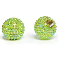 Cruiser Candy Bling Valve Caps - Green