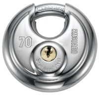 On Guard Bull Mastiff Round Keyed Padlock