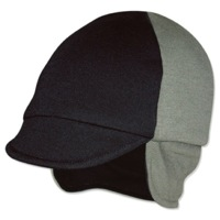 Pace Reversible Merino Wool Cycling Cap - Sage/Black