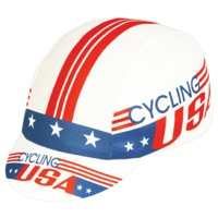 Pace Cycling USA Coolmax Cycling Cap - Red/White/Blue