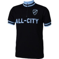 All-City Limited Edition Short Sleeve Wool Jersey - Black/Blue