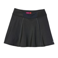 Terry Echelon Skort - Black