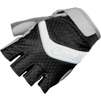 Castelli Elite Gel Gloves - Black/White/Silver Piping
