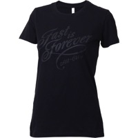 All-City Womens Fast Is Forever T-Shirt - Black