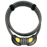 On Guard Terrier Combo Glo Cable Lock - 6' x 10mm