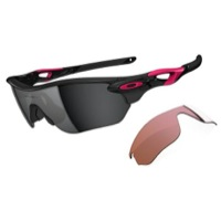 Oakley Radarlock Edge Sunglasses - Polished Black/Black Iridium & VR28 Vented